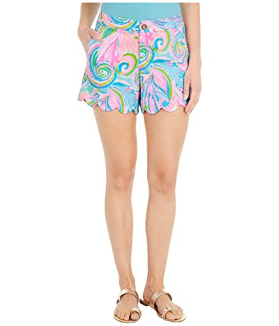 Lilly Pulitzer Buttercup Stretch Shorts (Multi Carnivale Coral) Women