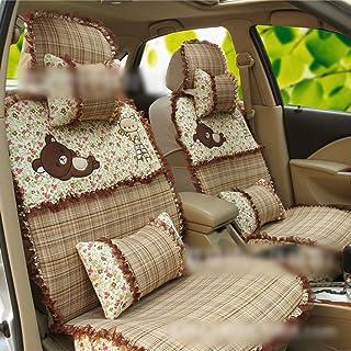 JKHOIUH Fundas de asiento Four Seasons Meryl, fundas de alfombrillas protectoras de asiento, se ajustan a la mayoría de los vehículos, automóviles, sedán, camión, SUV, furgoneta, cubierta de General M