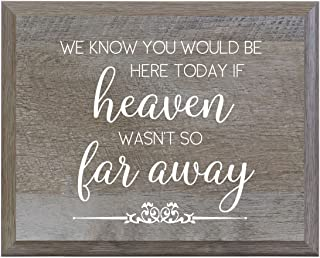 LifeSong Milestones Heaven Wasn't so far Away Decorative Wedding Party Signs for Ceremony and Reception for Bride and Groom (8x10)