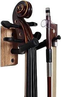Vizcaya Hardwood Home & Studio Wall Mount Violin Hanger with Bow Holder(VLH30)