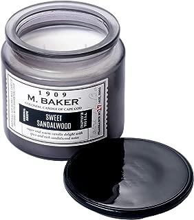 Colonial Candle M. Baker Signature Edition, Fragrance No. 17 Sweet Sandalwood, Medium Deco Glass Jar, 14 OZ