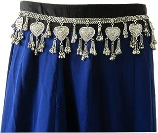 Metal Chain Hip Waist Belt - Costume Dress Fancy Fashion Accessories for Women - Belly Dance Boho Tribal Festival Gypsy Hippie Skirt Pants Novelty Jewelry - Handmade - Plated Silver Oxidized