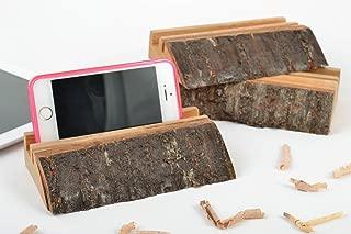 Set Of 3 Homemade Designer Wooden Gadget Holders For Phones And Tablets