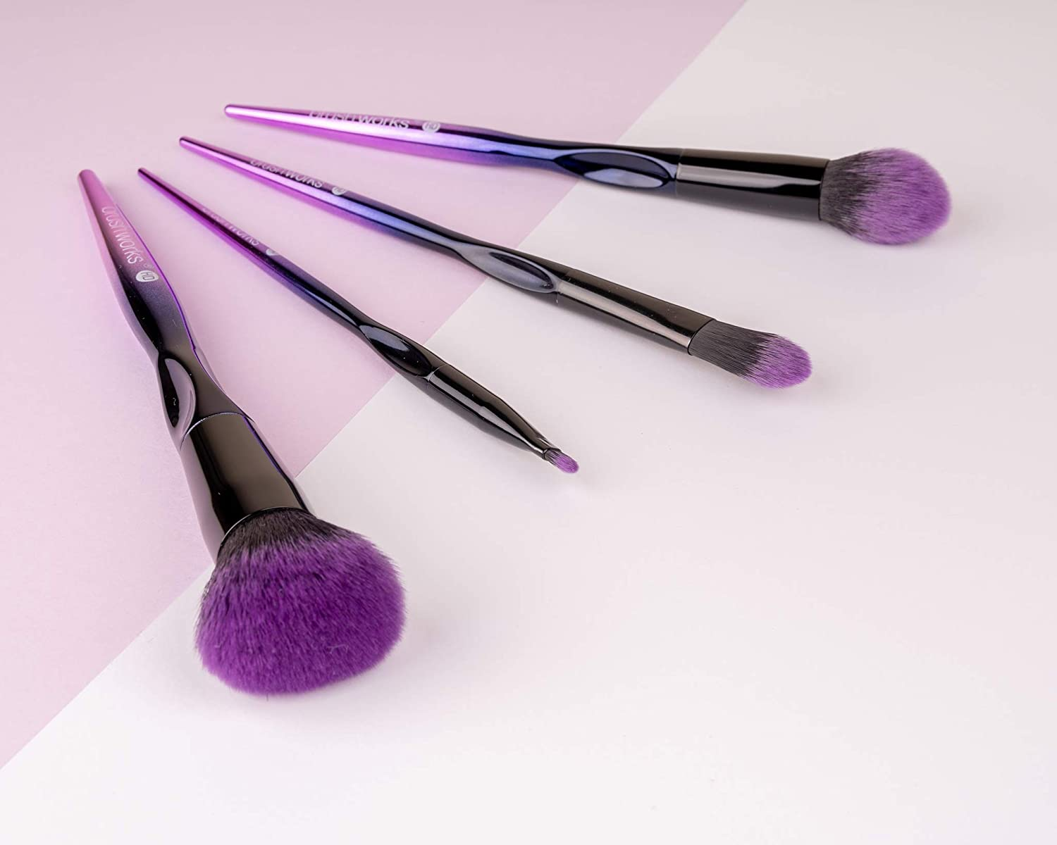 Brushworks 100% quality warranty HD Complete Face Makeup Brush Set New Free Shipping
