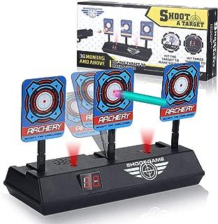 LOVIS Electric Scoring Auto Reset Shooting Digital Target for Nerf Guns Blaster N-Strike Elite Infinus Mega Rival Series Best Present for Kids