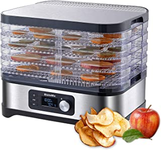 5 Tray Food Dehydrator BPA-Free, Electric Food Dehydrator Machine for Fruit Vegetable Meat Medicine Professional, Adjustab...
