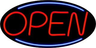LED Open Sign BD24-3 - BuyDirectSign - Large 24x12 - Red & Blue, PVC Foamboard - Remote Control - Very Bright! - Bar, Nail Salon, Hotel, Convenience Store, Vape Shop, Smoke Shop, Any Business!