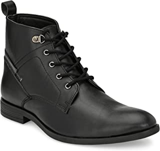 Shences Men's Faux Leather Casual Boots