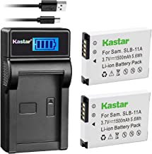 Kastar Battery (X2) & LCD USB Charger for Samsung SLB-11A SLB11A and Samsung WB600 WB650 WB700 WB1000 WB2000 CL65 CL80 EX1...