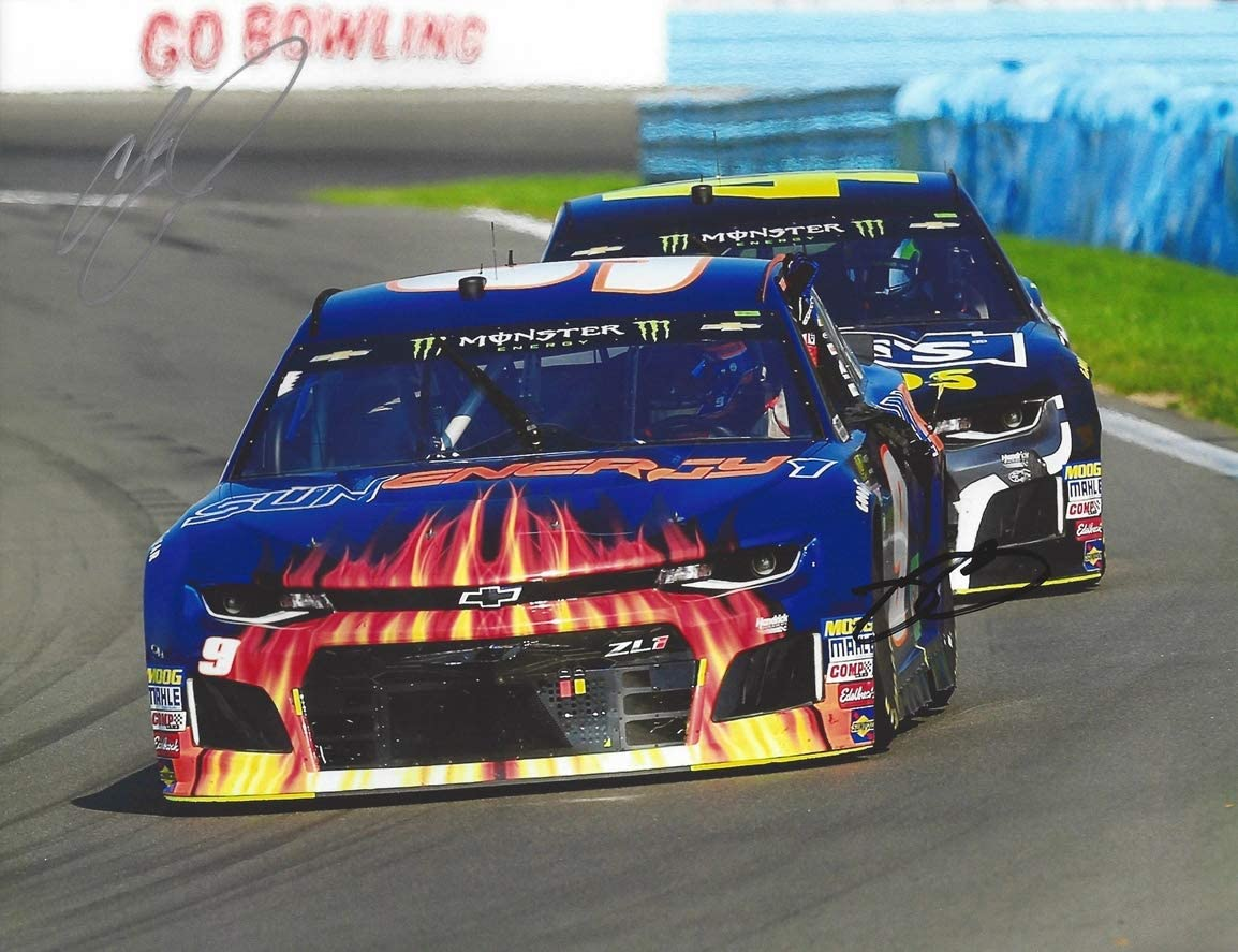 2X Super sale period limited AUTOGRAPHED 2018 Chase Elliott Max 70% OFF Jimmie Energy Sun Johnson #9