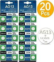 DNA - Baterías AG13 LR44, multicolor, paquete de 20 unidades