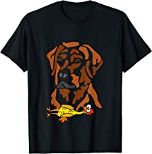 Smileteespetsa Cute Chocolate Lab Dog with Rubber Chicken T-Shirt