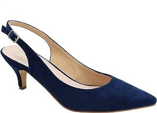 Best navy blue kitten heel wedding shoes Reviews