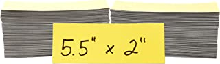 Magnetic Shelf Warehouse Labels 2 x 5.5 inches, 200 Pack, Yellow (01155)
