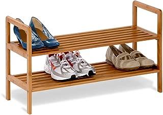 Best 2 tier 8 pair bamboo shoe shelf Reviews