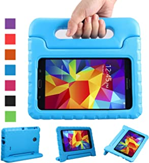 NEWSTYLE Shockproof Light Weight Kids Case with Protection Cover Handle and Stand for Samsung Galaxy Tab 4 7-inch, SM-T230, SM-T231, SM-T235 – Blue Not Fit Other Tablet