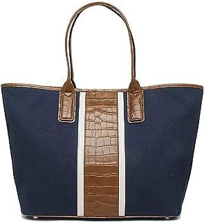 حقيبة يد جلدية منقوشة من قماش كتفي غرينيتش من مايكل كورس