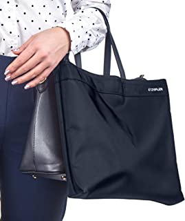 Tote Stylish Shoe Bag for Women by Zyfler | Premium Womens Shoe Bags with Attachable Handle for Womens Shoes, Boots, Heels ● Protective Travel Shoe Bag for Modern Business Woman