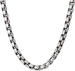 3.7mm Box Chain Necklace Size 22