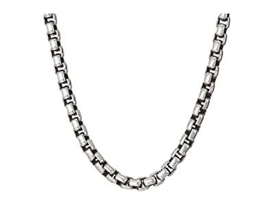 John Hardy 3.7mm Box Chain Necklace Size 22 (Silver) Necklace