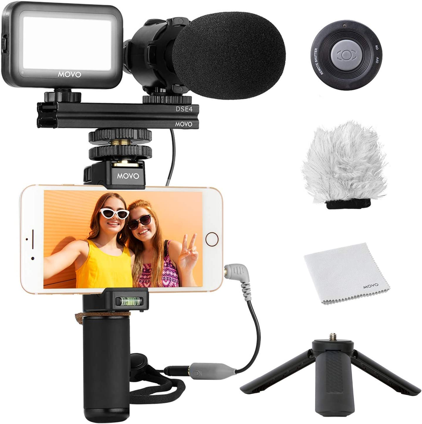 Movo Smartphone Video Kit V7 Max 67% OFF Rig Grip Tripod Industry No. 1 Vlogging with