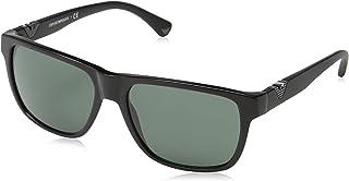 Emporio Armani Square Men's Sunglasses-58-17-140 mm