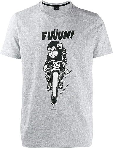 PS by Paul Smith Homme M2R011RAP134972 gris Coton T-Shirt