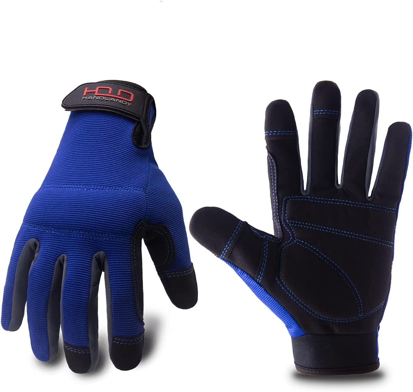 Mens Limited time for Las Vegas Mall free shipping General Utility Light Gloves Mechanic Work Touchscr