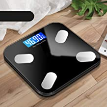 NYDZDM Electronic Scale Intelligent Body Fat Scale Electronic Scale Home Precision Men and Women Weight Scale Small Adult Body Weight Loss Weighing USB Charging (Color : Black)