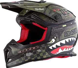 O'Neal Unisex-Adult Off-Road Style 5 SRS Warhawk Helmet BLK/GRN L (Black/Green, Large)