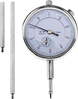 Indicateur /à cadran indicateur de cadran antichoc plage de 0 /à 10 mm indicateur m/écanique outil de mesure pr/écision de 0,01 mm conception de moletage comparateur