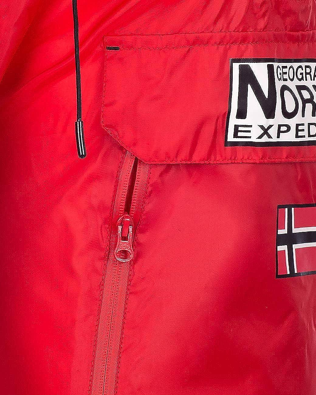 Geographical Norway Damen Windbreaker Regenjacke Red