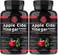 Angry Supplements Apple Cider Vinegar Pills for Weightloss (2 Pk Bundle) Natural Detox Remedy Includes Gymnema, Cinnamon, CLAS, Garcinia for Complete Diet and Health - Starter Kit or Gift