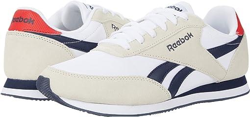 White/Collegiate Navy/Primal Red