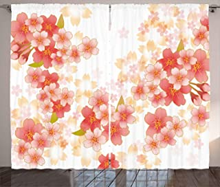 Best cherry blossom curtain panels Reviews