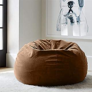 Regal In House relaxing bean bag velvet Large - Light Brwon