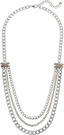 Neptune's Rings Multiple Row Chain Necklace