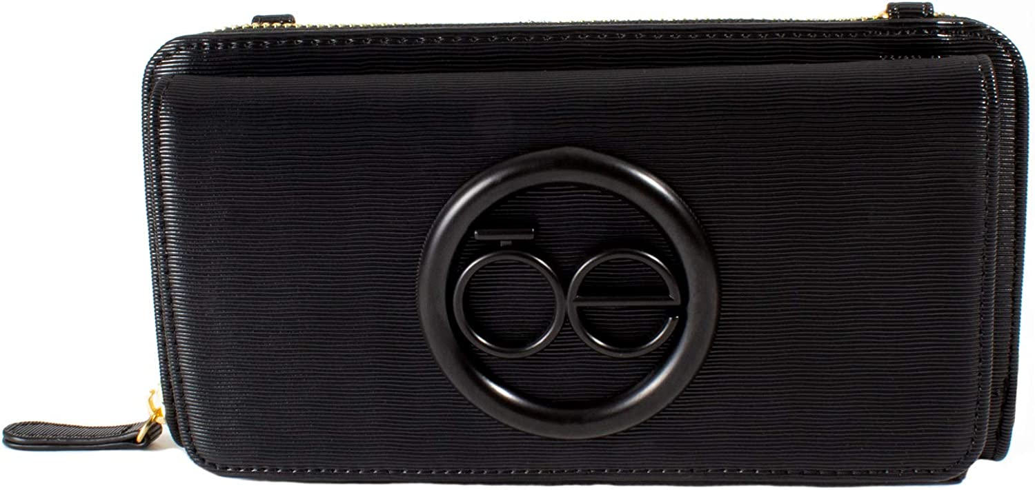 Low price Cloe Large Single Zippered 2-in-1 Color in Black Wallet Cash special price
