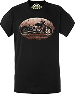 Da Uomo Biker T SHIRT bobber chopper servizio moto American Moto Motocicletta 16