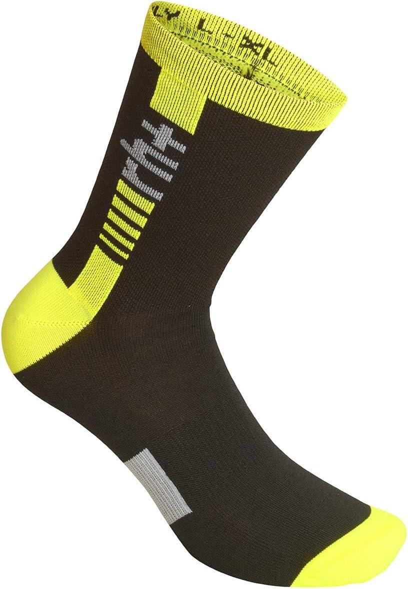 Accessories Bike Unisex Fluo Yellow-Black rh+ Logo Thermolite Sock 15 L//XL Adulto