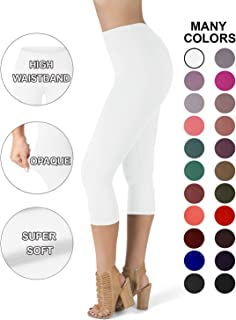 a08028b3875 SATINA High Waisted Super Soft Capri Leggings - 20 Colors - Reg   Plus Size