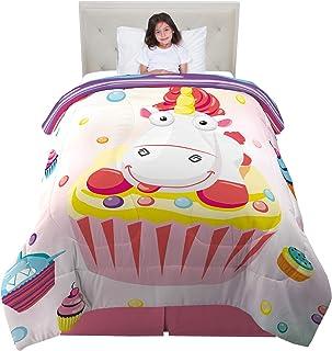 "Franco Kids Bedding Super Soft Reversible Comforter, Twin/Full Size 72"" x 86"", Fluffy Unicorn"