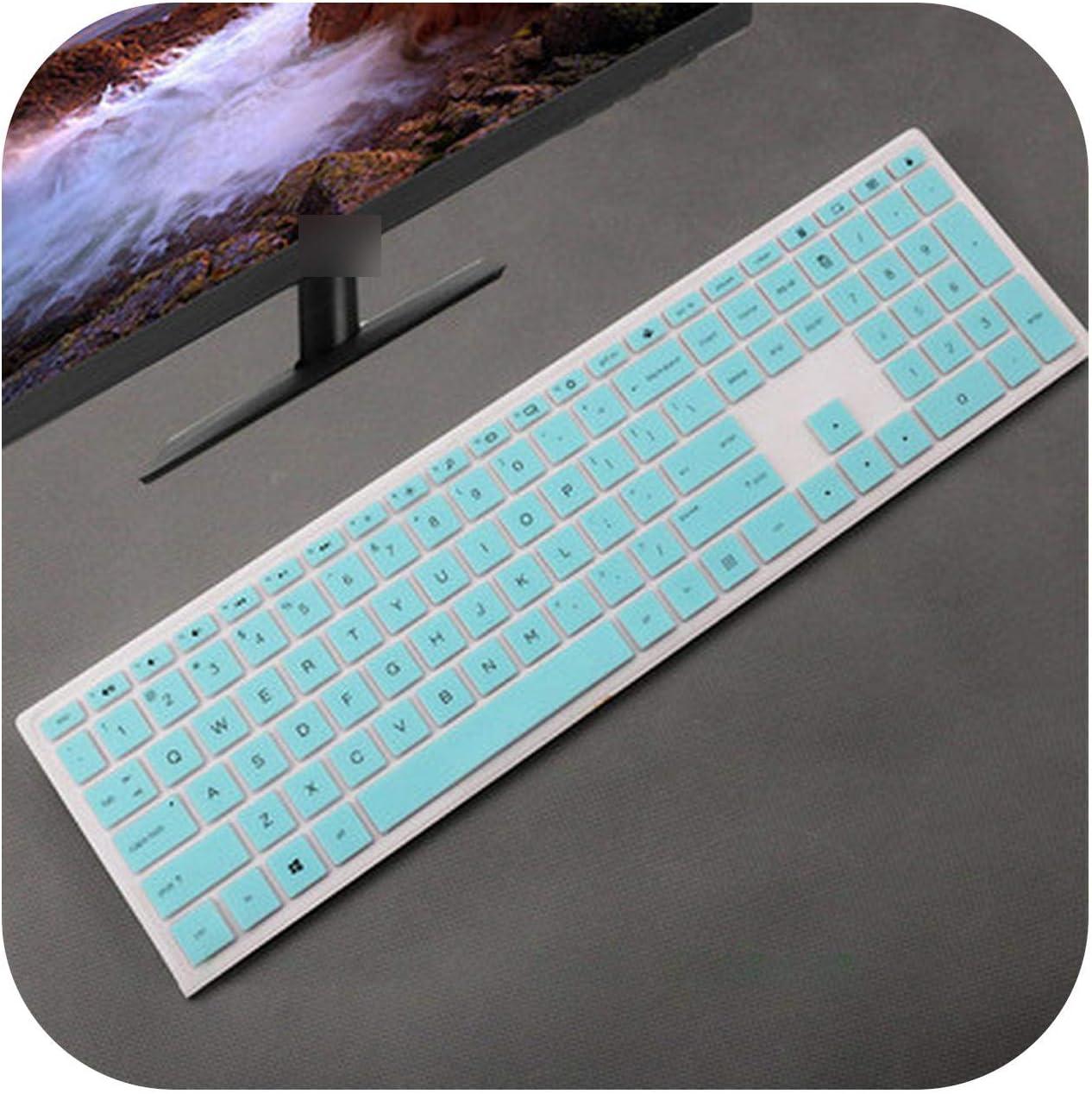Protector de teclado para ordenador HP Pavilion 24 Xa, protector de pantalla de teclado de escritorio para ordenador todo en uno HP Pavilion 24 Xa 24 ...