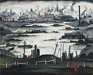 Berkin Arts L.S. Lowry Giclee Canvas Print Paintings Poster Reproduction(The Lake) Large Size39 x 31.6 inches