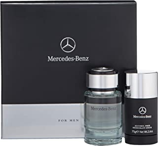 Mercedes Benz | Eau de Toilette and Deodorant Stick | 2 Piece Gift Set for Men | Woody Spicy Scent | EDT Spray 2.5 oz / Deodorant Stick - 2.6 oz