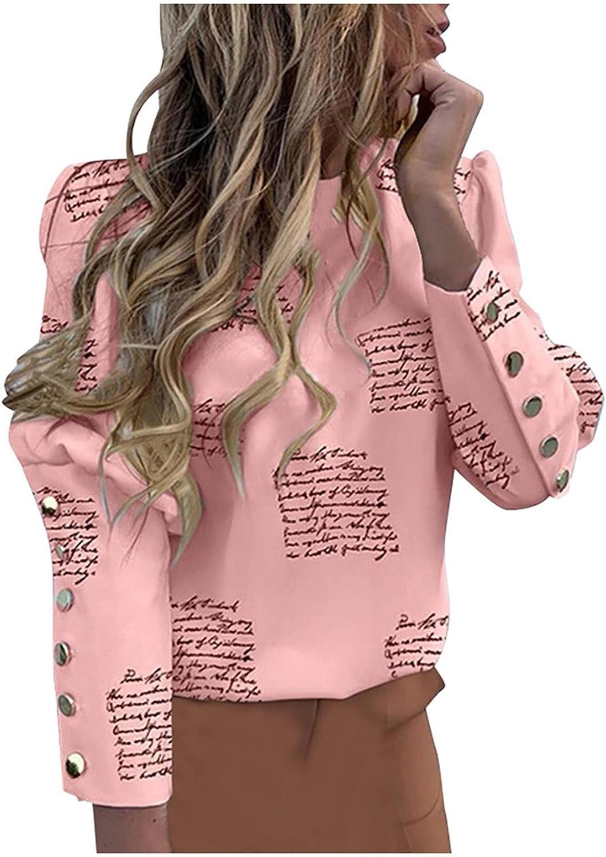 Women's Cropped Bolero Long Sleeve Shrug Lightweight Blouses Top Loose Jumper Metal Button Round Neck Shirts