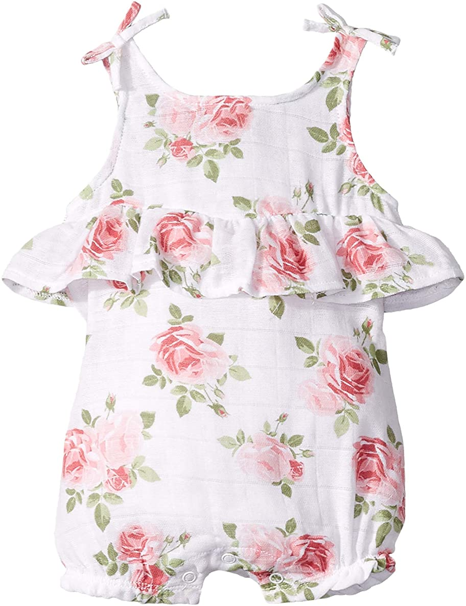 Mud Pie Baby Girl's Muslin Rose Bubble (Infant)