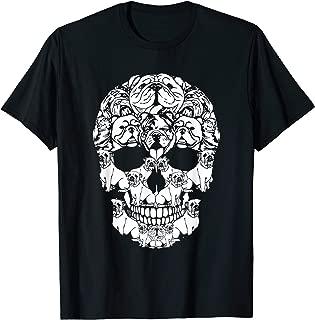 Skull English Bulldog Dog Gifts Funny Halloween Costume T-Shirt