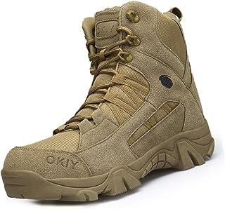 IYVW Bottes de Chasse pour Hommes Bottes Militaires de Haut-Niveau Bottes Tactiques de Combat Chaussures à Lacets Tout Ter...
