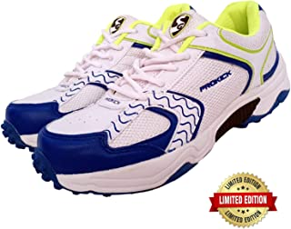 SG prokick rubber spikes limited edition cricket shoes for men - white/lime, 4uk